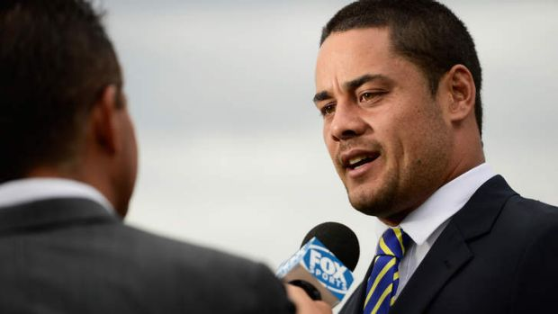 Opening up: Jarryd Hayne at the NRL season launch this week.
