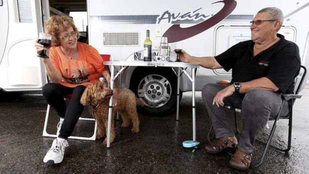 Active retirees: Ian and Robyn McWilliam enjoy their motor home at Avalon Beach.