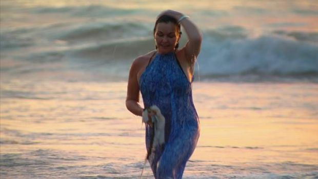 Schapelle Corby pictured in a Seven Network exclusive at Seminyak beach on Sunday.