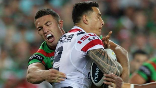 Inspired: Sonny Bill Williams meets Sam Burgess last season.