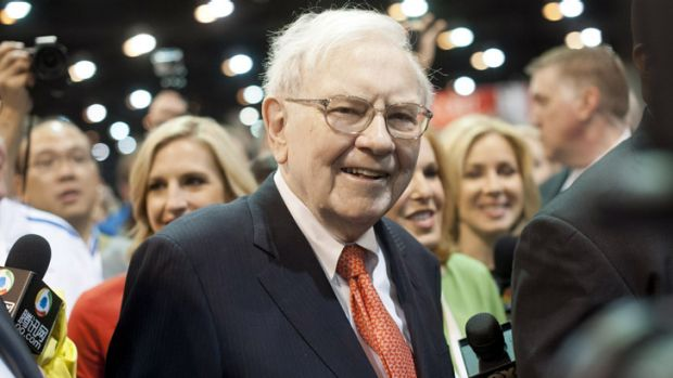 Warren Buffett at the Berkshire Hathaway shareholders' meeting in Nebraska at the weekend.