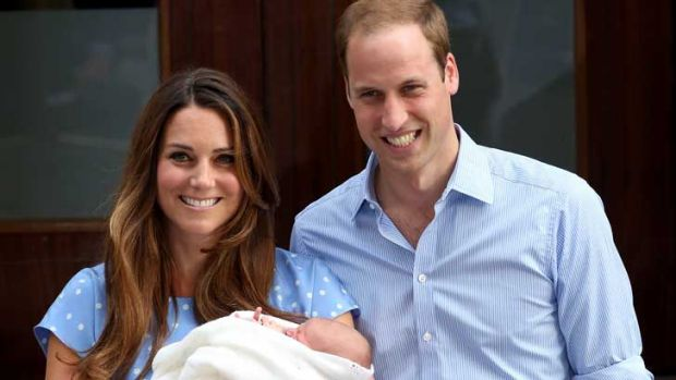 The Duke and Duchess of Cambridge with Prince George.