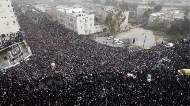 Hundreds of thousands of ultra-Orthodox Jews attended the protest.