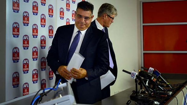 On the way out... AFL CEO Andrew Demetriou announcing that he will step down from the role later in the year.