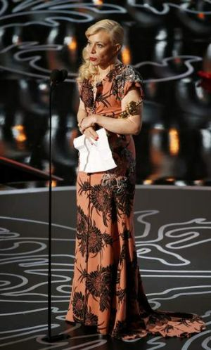Catherine Martin holds the award for costume design for her work in <i>The Great Gatsby</i>.
