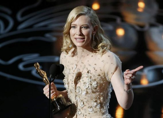 Cate Blanchett wins best actress for her work in <i>Blue Jasmine</i>.