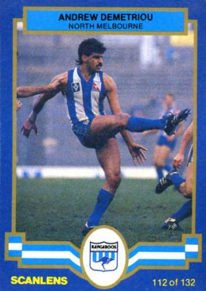 Andrew Demetrio back in the day for North Melbourne.