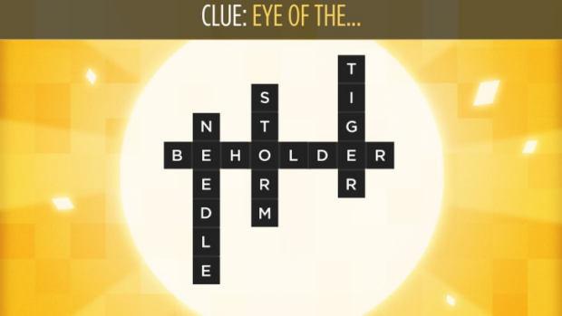 Bonza challenges you to assemble the broken pieces of a crossword to form many words that answer a single clue.