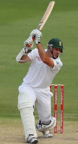 Graeme Smith in full flight.