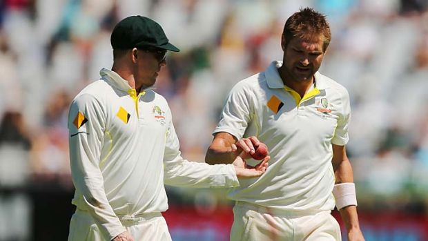 Ball of contention: Australia gave South Africa a taste of their own medicine with their reverse swing during the first ...