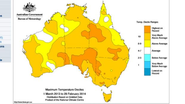 Below-average temperatures absent in past 12 months.