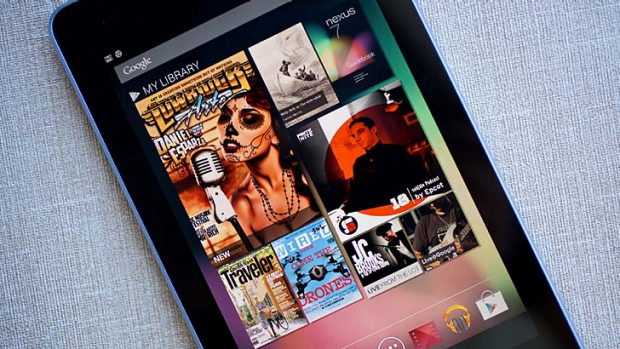 On top: Android tablets, such as the Google Nexus 7 (pictured), outsold Apple iPads for the first time.