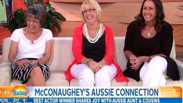 McConaughey's Australian family on <i>Today.</i>