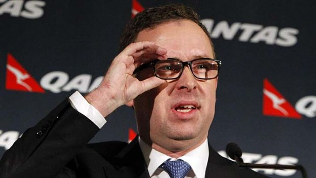 Unconvincing: Qantas chief Alan Joyce gave very public attempts to blame the airline's $252 million loss on a distorted ...