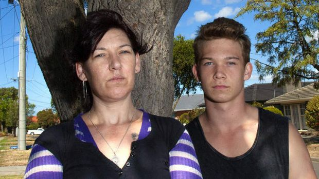 Tara Kennedy, a single mother with her son Reagan, 16.