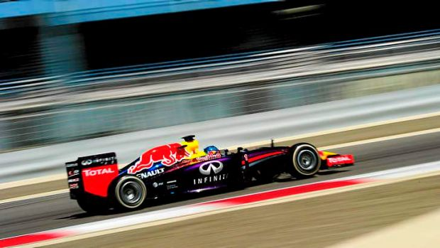 Practice, not perfect: Sebastian Vettel during Winter Testing in Bahrain.