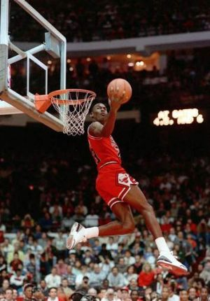 Chicago Bulls superstar Michael Jordan during his playing days in 1988.