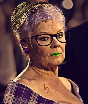 Dame Judy Dench is very different in her hipster version