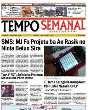 Scoop: a Tempo Semanal front page from the newspaper's series of exposes on ministerial corruption.