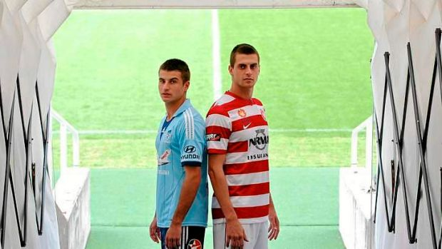D-Day: Sydney FC's Terry Antonis and Western Sydney Wanderers' Tomi Juric.