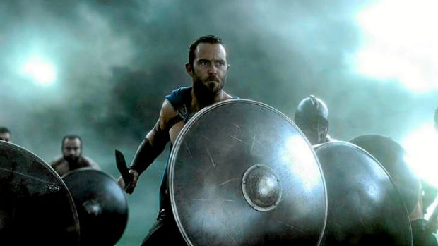 Sullivan Stapleton in 300: Rise of an Empire.