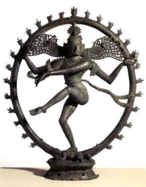 Centre of scandal ... Dancing Shiva statue.