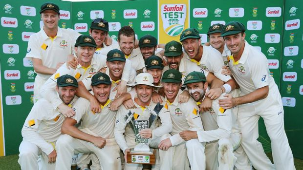 Australia became the first side to beat South Africa in a Test series in five years.