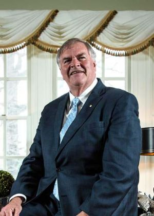 Kim Beazley, Australian ambassador to the United States, pictured in his study in Washington DC, is visiting Canberra.
