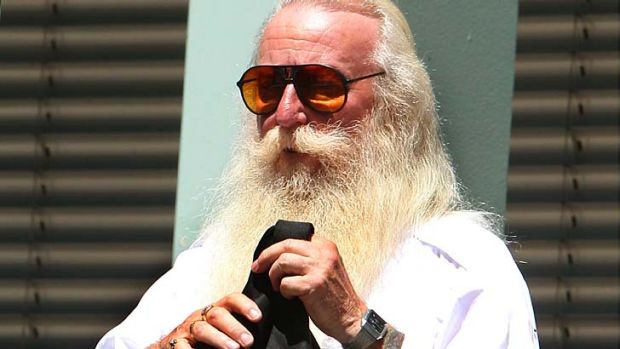 Admitted indecent acts: Harry Carr leaving Gosford Court House.