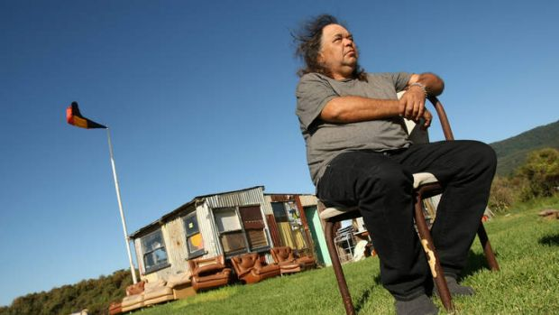 """Roy """"Dootch"""" Kennedy at the Sandon Point Tent Embassy  in 2009."""