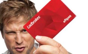 Ladbrokes promotional image showing its new ATM card.
