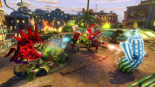 A screenshot from Plants vs. Zombies: Garden Warfare.