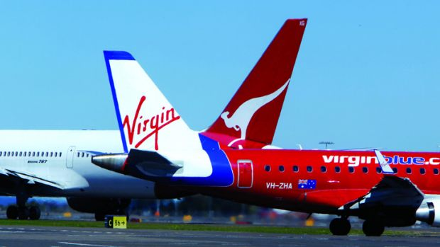 Battle in the skies: Qantas's ability to raise prices will be dependent on Virgin's response to the capacity freeze.