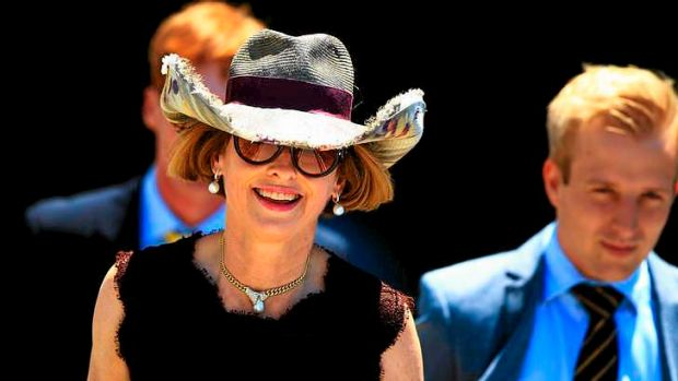 Entertaining: Gai Waterhouse created great theatre on the opening day of the sales.