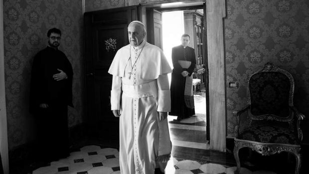 Forward direction ... Pope Francis at the Vatican's Apostolic Palace in February. He prefers to live in a small room in ...