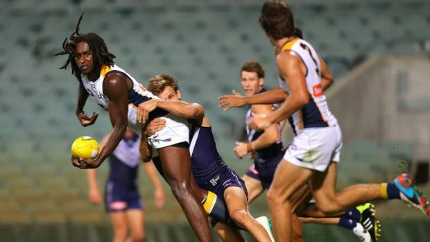 Eagle Nic Naitanui returned to AFL for a practice match between the West Coast Eagles and the Fremantle Dockers.