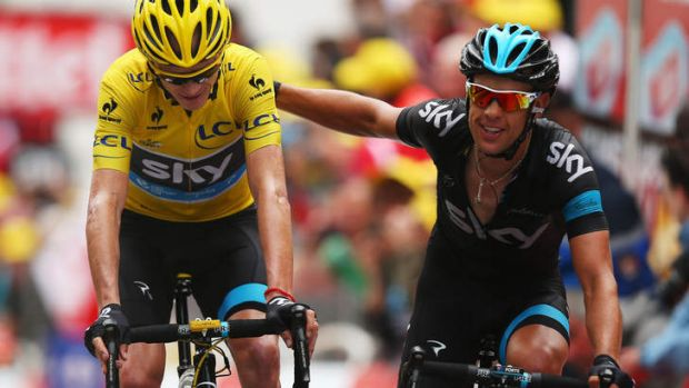 Team man: Australia's Richie Porte (right) and Great Britain's Chris Froome during the 2013 Tour de France.
