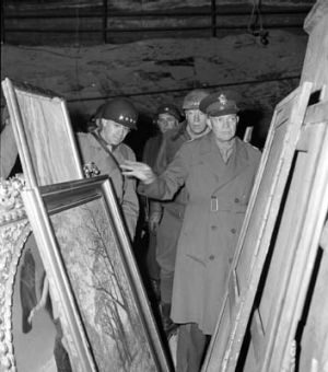 US General Dwight Eisenhower inspects art treasures stolen by the Nazis.