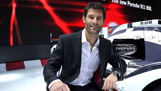New chapter: Mark Webber in Geneva this week.