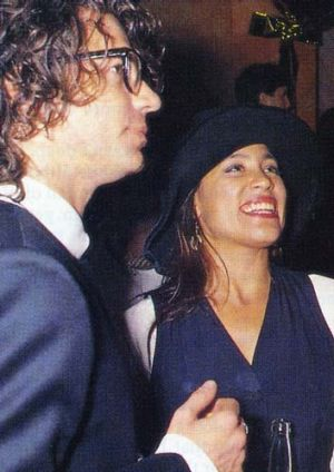 Music makers: Kate Ceberano and Michael Hutchence were fixtures on the music scene.