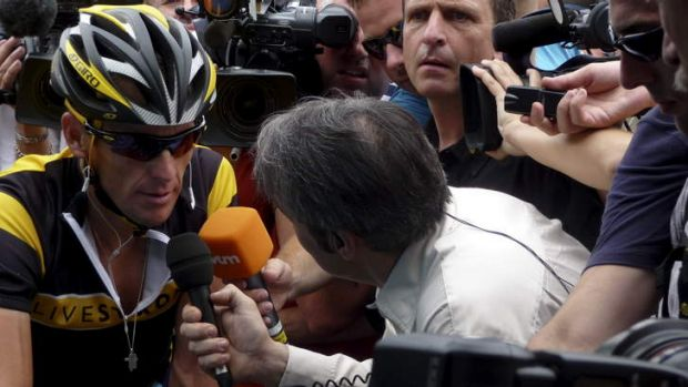 A still from <i>The Armstrong Lie</i>, which chronicles Lance Armstrong's improbable rise and ultimate fall from grace.