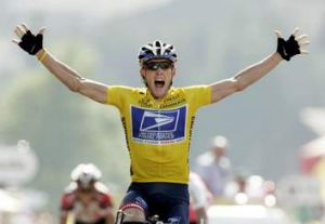 Lance Armstrong during his heyday winning the 17th stage of the Tour de France in July 2004.