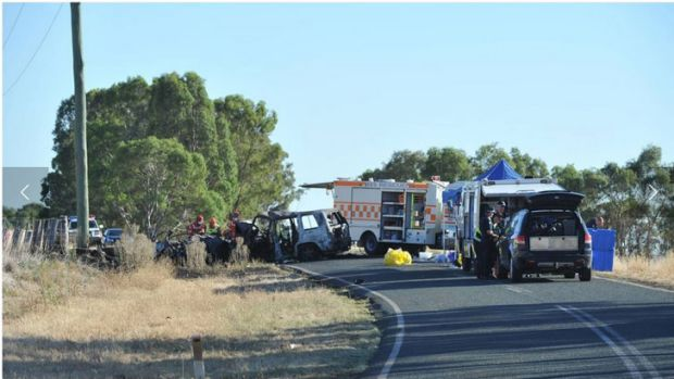Tragedy: Four people have been killed in a horror smash near Elmore.