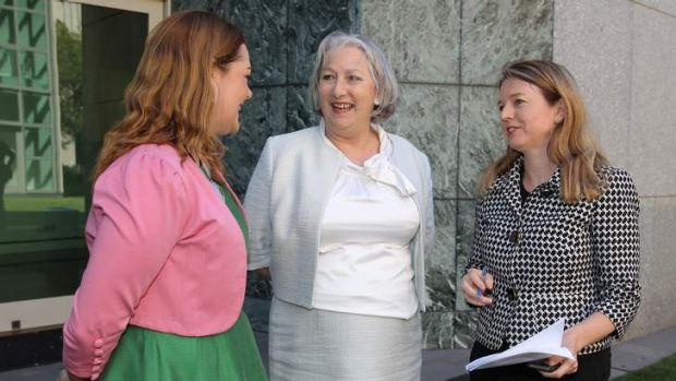 Senators Sarah Hanson-Young, Sue Boyce and Louise Pratt.