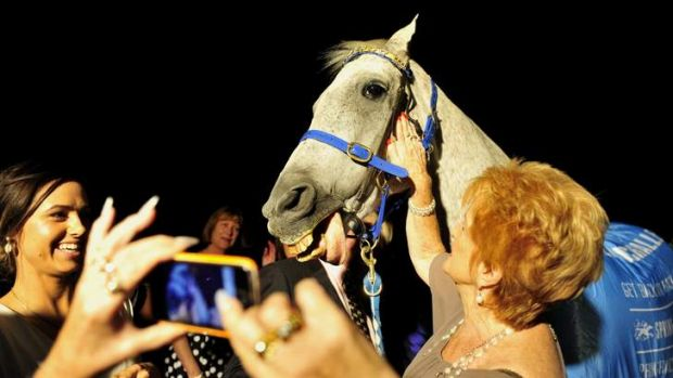 Subzero attends the Racing Hall of Fame presentation night at the National Gallery of Australia.