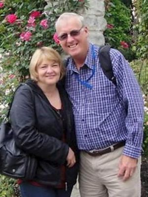 Travel after redundancy: Mary and Rodney Burrows from Brisbane.