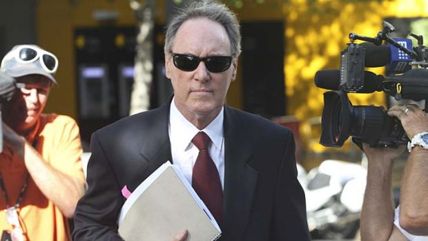 <i>Hey Dad!</i> star Robert Hughes at The Downing Centre District  Court in Sydney.