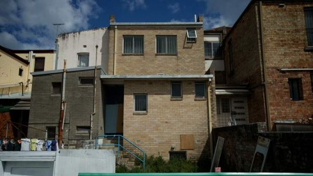 The rear of the building in Croydon where Tosha Thakkar was murdered.