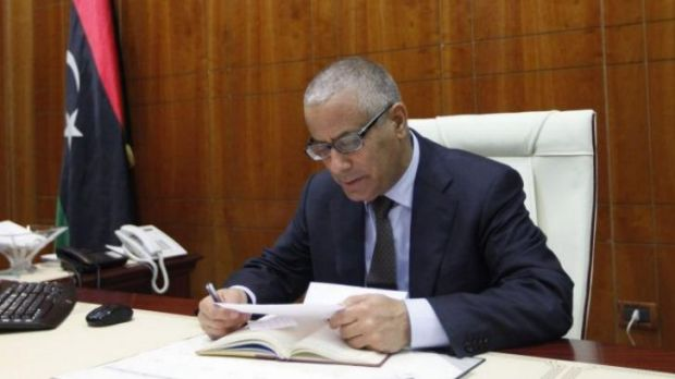 Libya's former Prime Minister Ali Zeidan in office before being ousted.