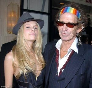 Writ large: Theodora and Keith Richards.